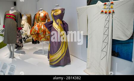 London, UK.  26 February 2020. A general view of exhibition space. Preview of 'Kimono: Kyoto to Catwalk', an exhibition celebrating the Japanese kimono.  Artworks are on show at the V&A museum in South Kensington 29 February to 21 June 2020.  Credit: Stephen Chung / Alamy Live News