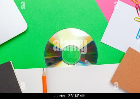 Creative minimal home office desk. Mock up - Stock Photo