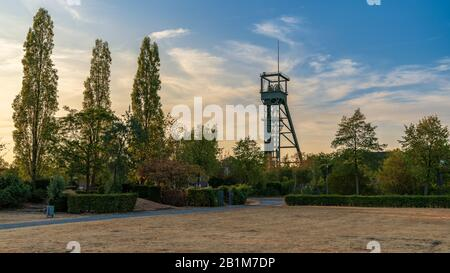 Oberhausen, North Rhine-Westfalia, Germany - August 06, 2018: Evening at the Olga-Park - Stock Photo