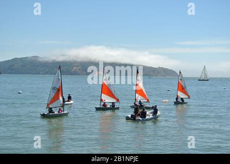 sea scouts learn sailing in sausalito, california - Stock Photo