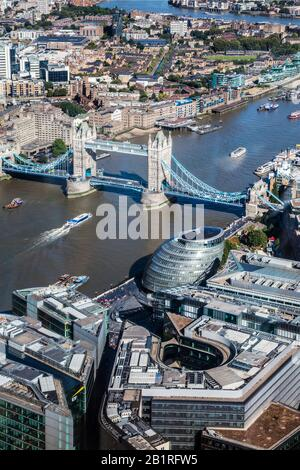 The view from the Shard over London. - Stock Photo