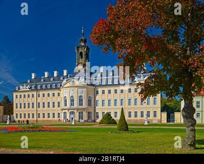 Hubertusburg hunting lodge in Wermsdorf, Saxony, Germany - Stock Photo