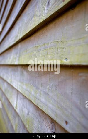 Featheredge wooden boards close up - Stock Photo