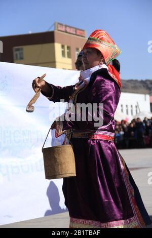 Nauryz festival in Bayan Ulgii province at Western Mongolia. Kazakh nomads traditional festival