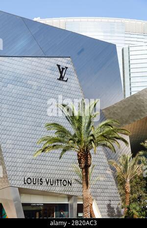 LAS VEGAS, NEVADA - May 17, 2012. Louis Vuitton Store at Crystals, CityCenter, Las Vegas - Stock Photo