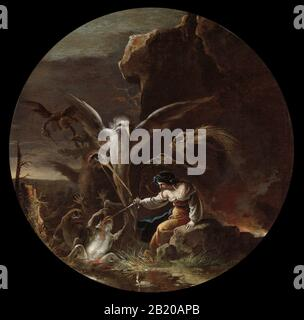 Scenes of Witchcraft, c. 1645-1649. Salvator Rosa (Italian, 1615-1673)..jpg - 2B20APB - Stock Photo