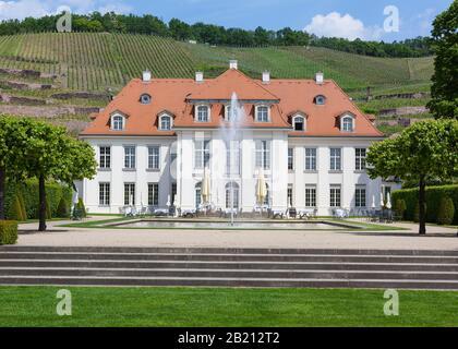 Wackerbarth Castle, Radebeul, Saxony, Germany - Stock Photo
