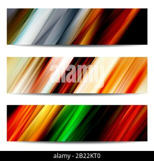 Abstract colorful banner set for creative design needs