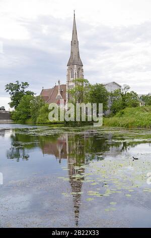 Saint Albans Church, an Anglican church in Copenhagen, Denmark - Stock Photo