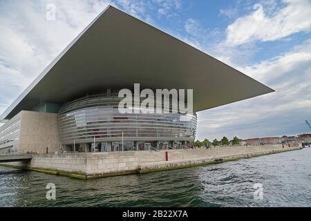 Copenhagen, Denmark - June 14, 2019: The Copenhagen Opera House, the national opera house of Denmark - Stock Photo