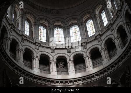 View inside the main dome of Basilica of the Sacred Heart of Paris (Sacre-Coeur), Paris, France
