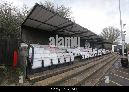 General view of the ground during Hornchurch vs Haringey Borough, BetVictor League Premier Division Football at Hornchurch Stadium on 29th February 20 - Stock Photo