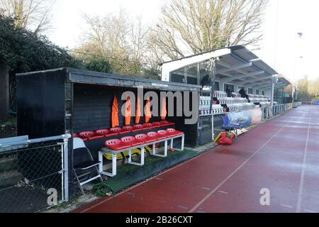 General view of the ground during Hornchurch vs Dulwich Hamlet, Buildbase FA Trophy Football at Hornchurch Stadium on 14th December 2019 - Stock Photo