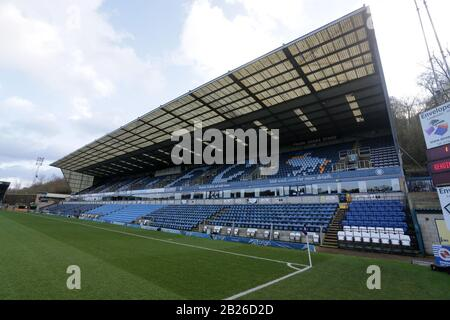 General view of the ground ahead of Reading FC Women vs Arsenal Women, Barclays FA Women's Super League Football at Adams Park on 8th December 2019 - Stock Photo