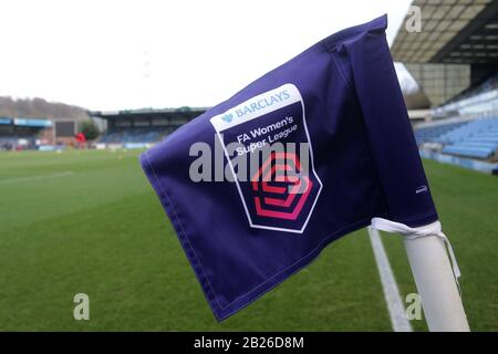 General view of the FAWSL corner flag ahead of Reading FC Women vs Arsenal Women, Barclays FA Women's Super League Football at Adams Park on 8th Decem - Stock Photo