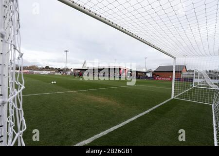 General view of the ground during Arsenal Women vs Chelsea Women, FA Women's Super League Football at Meadow Park on 13th January 2019 - Stock Photo