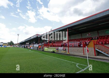 General view of the ground during Dagenham & Redbridge vs Hartlepool United, Vanarama National League Football at the Chigwell Construction Stadium on - Stock Photo