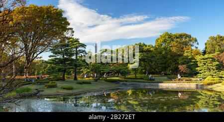 East Gardens of Imperial Palace, Tokyo, Japan - Stock Photo