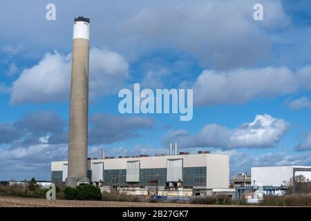 Fawley Power station, decommissioned in 2013, now being dismantled, Fawley, Waterside, Hampshire, England, UK - Stock Photo