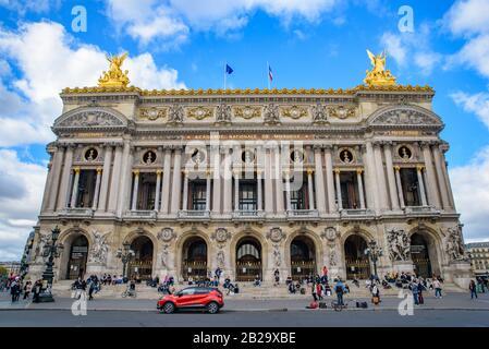 Palais Garnier, the opera house of Paris, France
