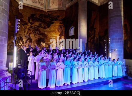 Orfeón Donostiarra Choir, Church of former Dominican convent (16th century), San Telmo Museum, Donostia, San Sebastian, Gipuzkoa, Basque Country, - Stock Photo