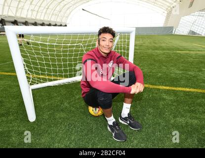 Oriam Sports Performance Centre, Riccarton, Edinburgh, Scotland. UK .2nd March 20 Hearts Sean Clare Media conference for Scottish premiership match vs Hibernian . Credit: eric mccowat/Alamy Live News - Stock Photo