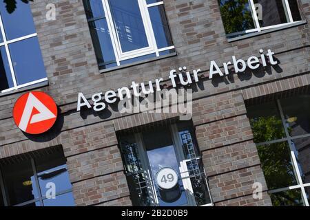Agentur fuer Arbeit, Koenigin-Elisabeth-Strasse, Westend, Charlottenburg, Berlin, Deutschland - Stock Photo
