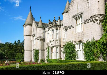 Aberdeenshire, Scotland, The Balmoral castle, summer residence of the British Royal Family. - Stock Photo