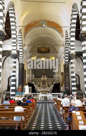Italy, Liguria, Cinque Terre, Monterosso, San Giovanni Battista church Stock Photo