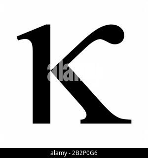 Kappa Greek letter icon - Stock Photo