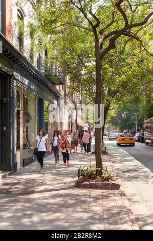 Bleecker Street, Greenwich Village, New York City, America, USA - Stock Photo