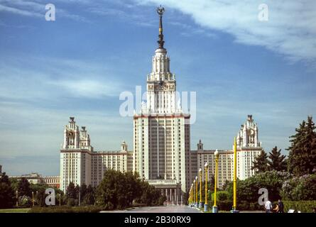 Lomonosov Moscow State University, founded in 1755. - Stock Photo