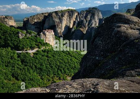 Monastery of Rousanou and Monastery of St. Stephen in Meteora in Greece