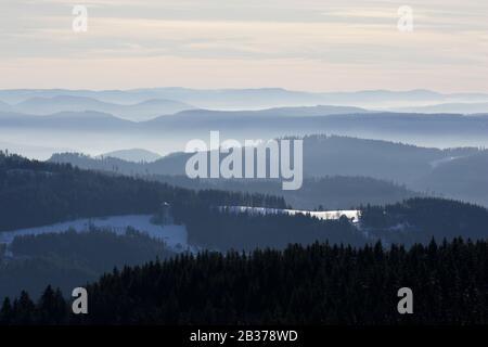 Blick von der Hornisgrinde auf den Nordschwarzwald, Baden-Württemberg - Stock Photo