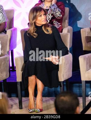 Washington, U.S. 04th Mar, 2020. March 4, 2020 - Washington, DC, United States: First Lady Melania Trump at the 2020 International Women of Courage Awards. (Photo by Michael Brochstein/Sipa USA) Credit: Sipa USA/Alamy Live News - Stock Photo