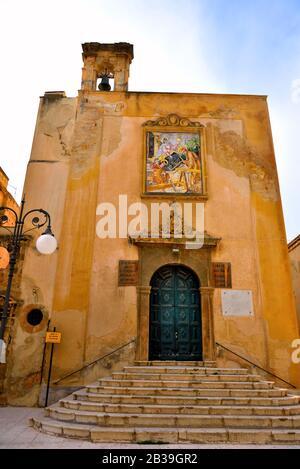 church of San Giuseppe sec XVII - XVIII  Mazara del Vallo Sicily - Stock Photo