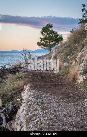 Beautiful path, Osejava park, Makarska, Croatia - Stock Photo