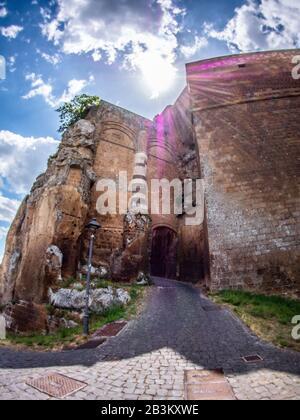 Italy, Umbria, Orvieto, Albornoz fortress, now public garden