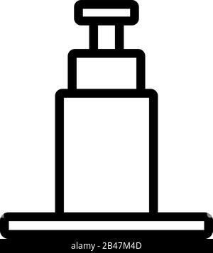 hydraulic jack icon vector. Thin line sign. Isolated contour symbol illustration - Stock Photo