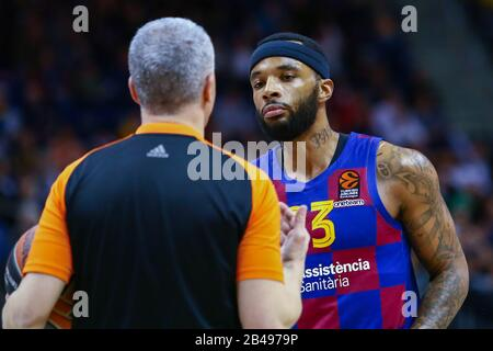 Berlin, Germany, March 04, 2020:Basketball player Malcolm Delaney of FC Barcelona Basketball during the EuroLeague match