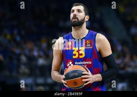 Berlin, Germany, March 04, 2020:Basketball player Nikola Mirotic of FC Barcelona during the EuroLeague basketball match