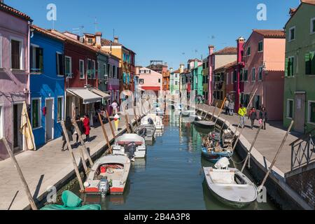 Burano, Venice, February 25th - March 3rd. 2020: - Stock Photo