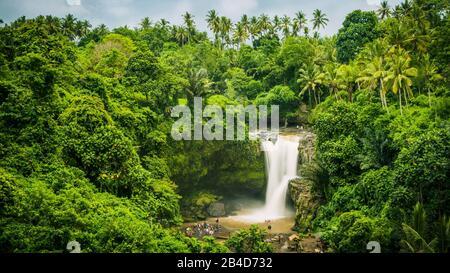 Amazing Tegenungan Waterfall near Ubud in Bali, Indonesia, - Stock Photo