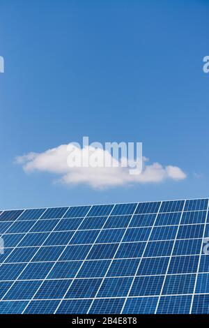 Solar system under blue sky - Stock Photo