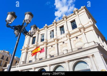 Royal theater, Plaza de Oriente, Madrid, Spain, Europe - Stock Photo