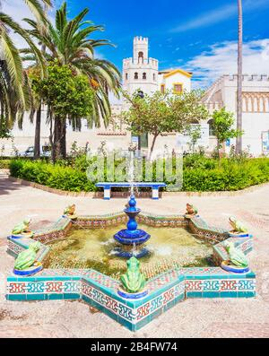 Santa Maria square, Tarifa, Costa de la Luz, Cadiz Province, Andalucia, Spain, Europe - Stock Photo