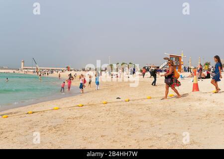 Dubai, UAE, Jumeirah, Jumeihra Beach, Dubai - Stock Photo