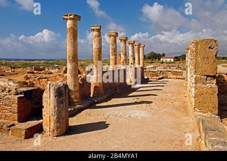 Paphos, Archaeological Park, Cyprus, Greek part
