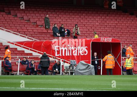 London, UK. 07th Mar, 2020. A general view of the ground during the Premier League match between Arsenal and West Ham United at Emirates Stadium on March 7th 2020 in London, England. (Photo by Mick Kearns/phcimages.com) Credit: PHC Images/Alamy Live News - Stock Photo