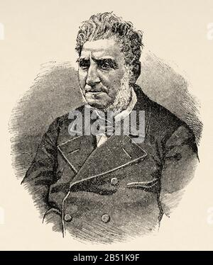 Portrait of Melchor Sánchez de Toca (Vergara 1806 - Madrid 1880). Surgeon and Spanish writer, first Marquis de Toca. Royal National Academy of Medicin - Stock Photo